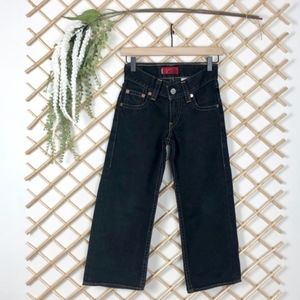 Type 1 Real Loose Black Boy's Jeans by Levi's